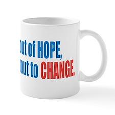 hope and change bumpersticker Mug