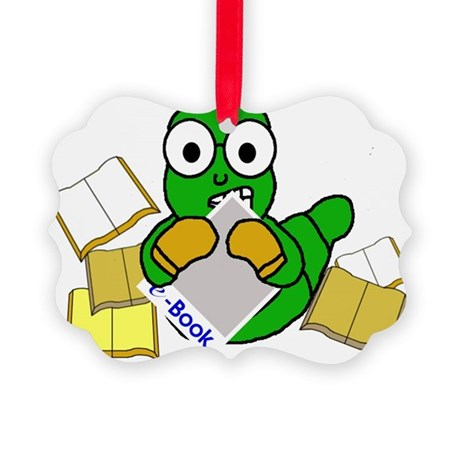 MightyBart.ebook.zazzle Picture Ornament