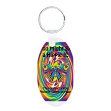 You Might Be A Hippie If 2 Aluminum Oval Keychain