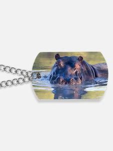 Hippo Dog Tags