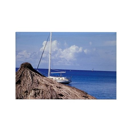 Caribbean, BWI, St. Lucia, Anse C Rectangle Magnet