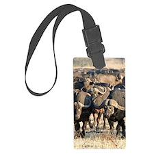 African Buffalos Luggage Tag