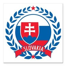 "slovakiawreath Square Car Magnet 3"" x 3"""