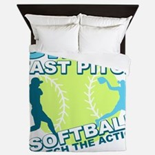 girls fastpitch Queen Duvet
