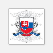"slovakiashield Square Sticker 3"" x 3"""