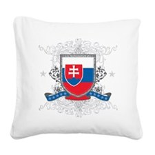 slovakiashield Square Canvas Pillow