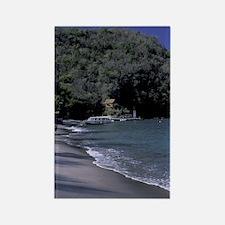 Caribbean, St. Lucia, Soufriere A Rectangle Magnet