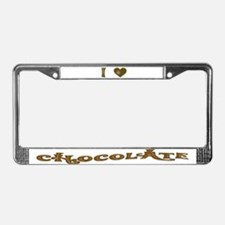 I (HEART) CHOCOLATE License Plate Frame