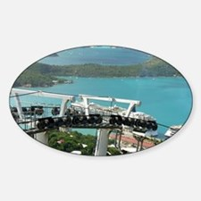 St. Thomas Skyride. View of cruise  Decal