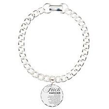 Fuck cancer White 092511 Bracelet