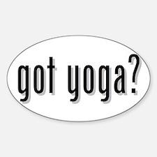 got yoga? Oval Decal