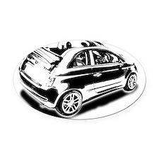 500 drop top 01 Oval Car Magnet