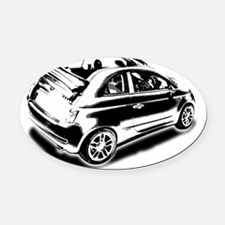 500 drop top 01 Oval Car Magnet