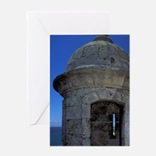 Part of El Morro fortJuan. Sentry bo Greeting Card