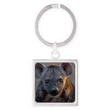 Hyena Cub Square Keychain