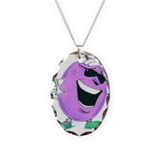 The Grapes of Laugh Necklace Oval Charm