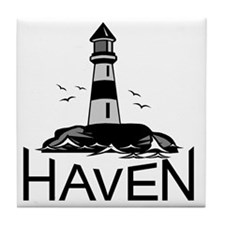 Unofficial Haven Logo Colored Tile Coaster