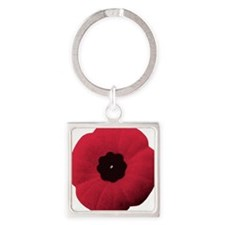 Remembrance day poppy Square Keychain