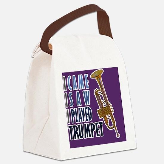 mensWalletTrumpet Canvas Lunch Bag