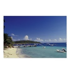 White sand beach and coas Postcards (Package of 8)