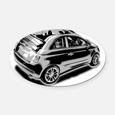 500 drop_top Oval Car Magnet