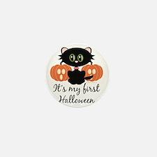 MyFirstHalloweenCatPumpkins Mini Button