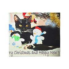 Christmas kitty Throw Blanket