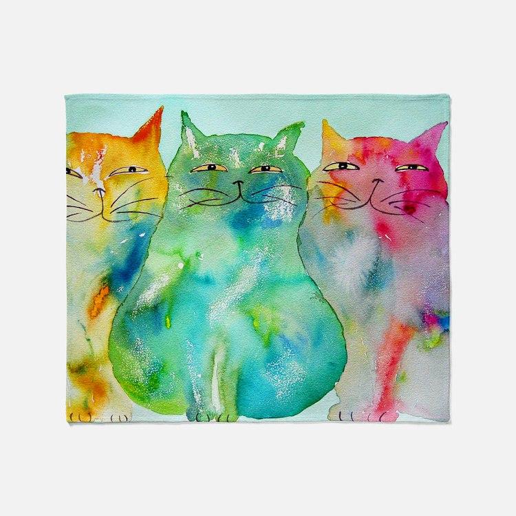 Haleiwa Cats 250 Throw Blanket