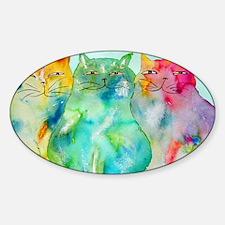 Haleiwa Cats 250 Sticker (Oval)