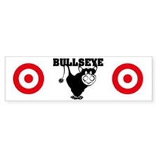 BullsEye panties Car Sticker