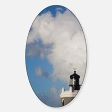 El Morro lighthousean, Old San Juan Sticker (Oval)