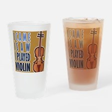 ipadViolinPlay Drinking Glass