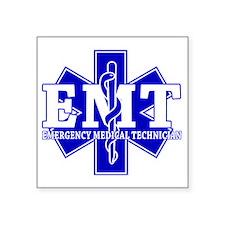 "star of life - blue EMT wor Square Sticker 3"" x 3"""