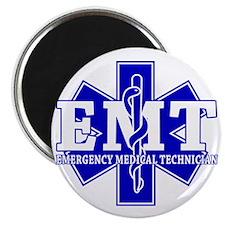 star of life - blue EMT word Magnet