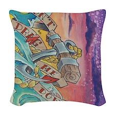anchor (5) Woven Throw Pillow