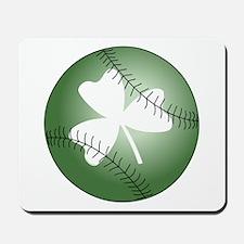 Baseball Shamrock Mousepad
