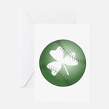 Baseball Shamrock Greeting Cards