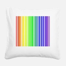 rainbow barcode Square Canvas Pillow