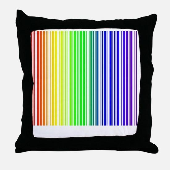 rainbow barcode Throw Pillow