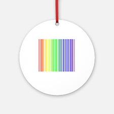rainbow barcode Round Ornament