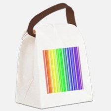 rainbow barcode Canvas Lunch Bag