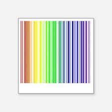 "rainbow barcode Square Sticker 3"" x 3"""