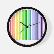 rainbow barcode Wall Clock