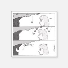 "Gravity Square Sticker 3"" x 3"""