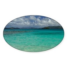 Sapphire Beach. View of the island  Decal
