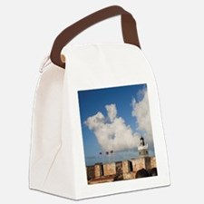 El Morro lighthouse and canonball Canvas Lunch Bag