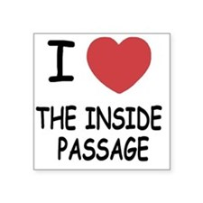 "THEINSIDEPASSAGE Square Sticker 3"" x 3"""