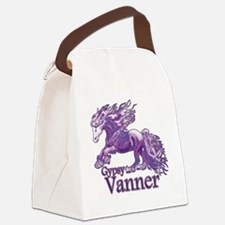 Gypsy Vanner purple Canvas Lunch Bag