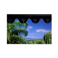 Caribbean, Nevis. Nevis Botanical Rectangle Magnet