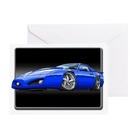 91_92_Firebird_Blue Greeting Card